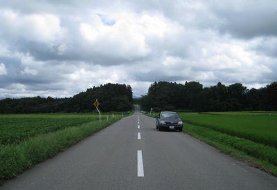 鶴岡市の農道