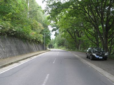 飯綱高原の道