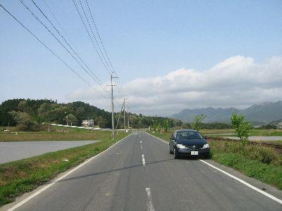中柘植の農免道路